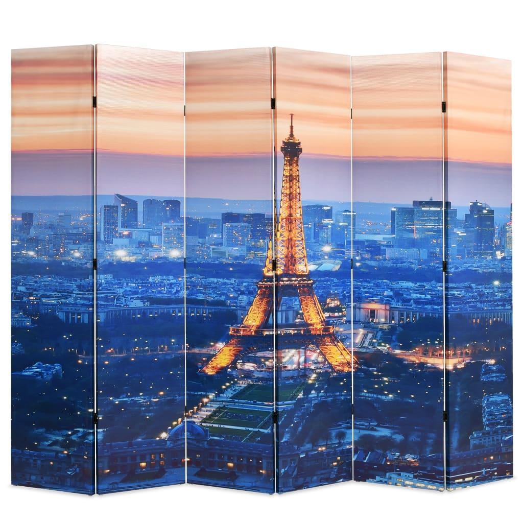 Kamerverdeler inklapbaar Parijs bij nacht 228x180 cm