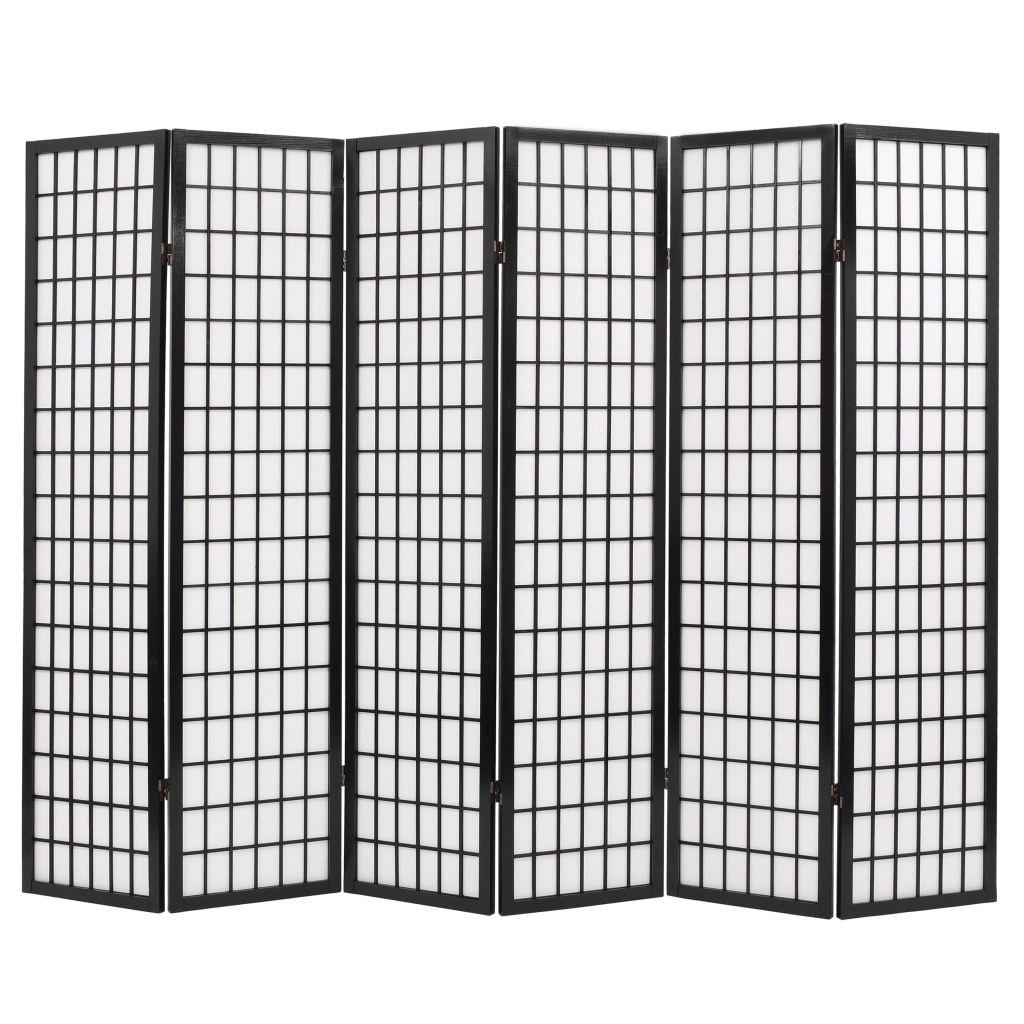 Kamerverdeler inklapbaar Japanse stijl 240x170 cm zwart