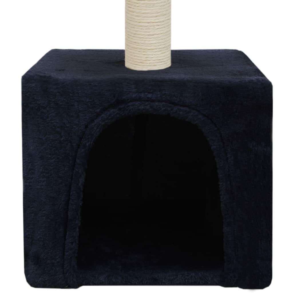 Kattenkrabpaal met sisal krabpaal 55 cm donkerblauw