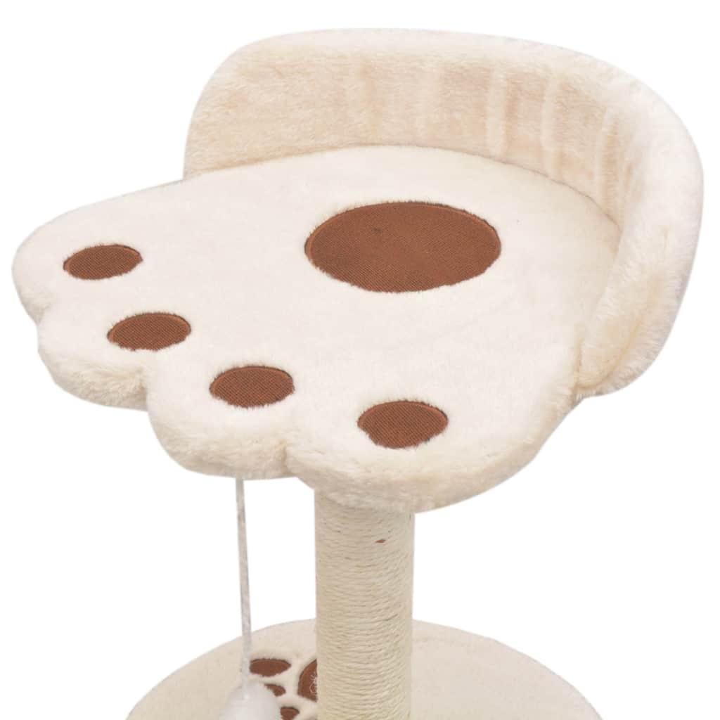 Kattenkrabpaal met sisal krabpaal 40 cm beige en bruin