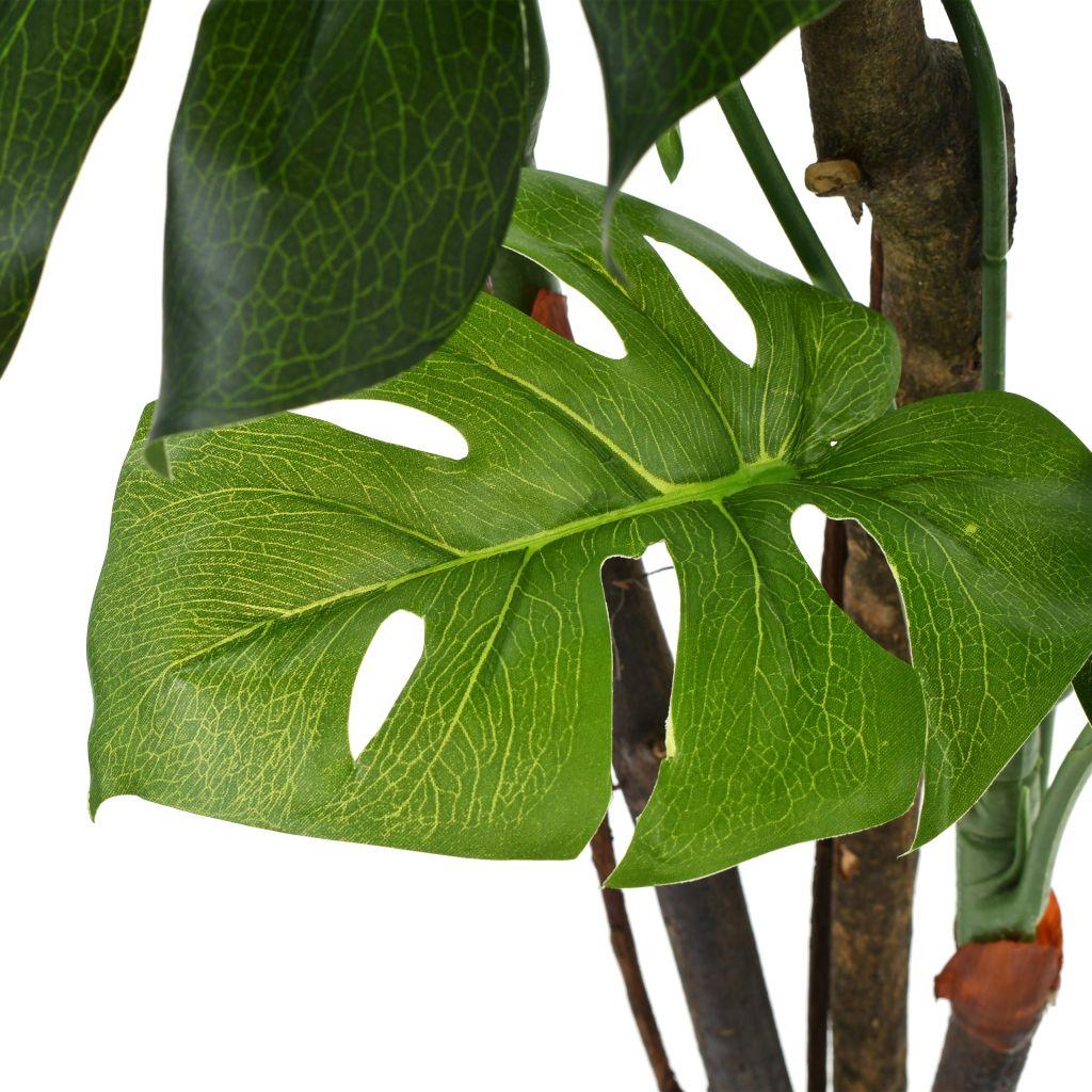 Kunstplant met pot monstera 130 cm groen