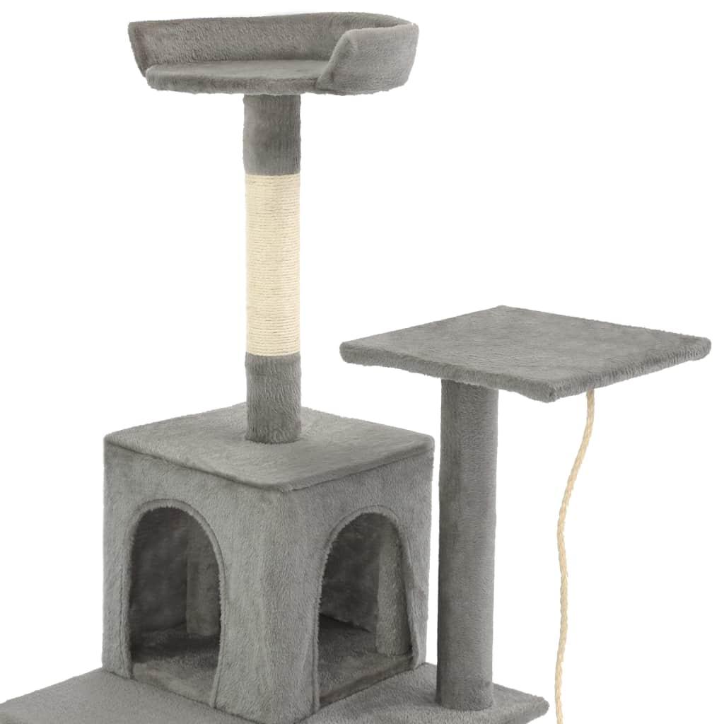 Kattenkrabpaal met sisal krabpalen 120 cm grijs