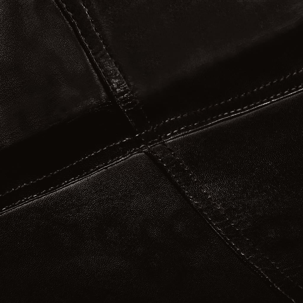 Vlinderstoel kinderformaat echt leer zwart