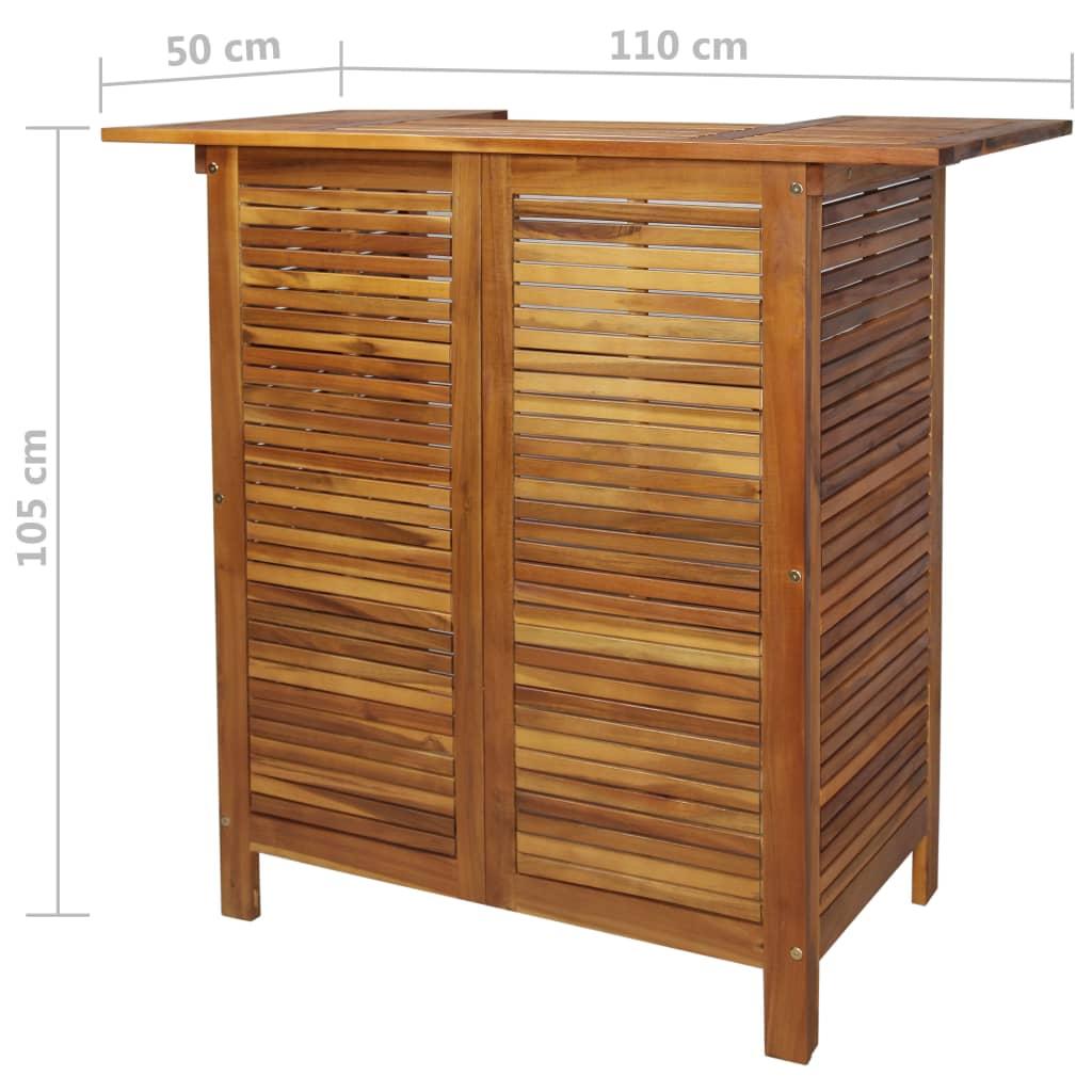 Bartafel 110x50x105 cm massief acaciahout
