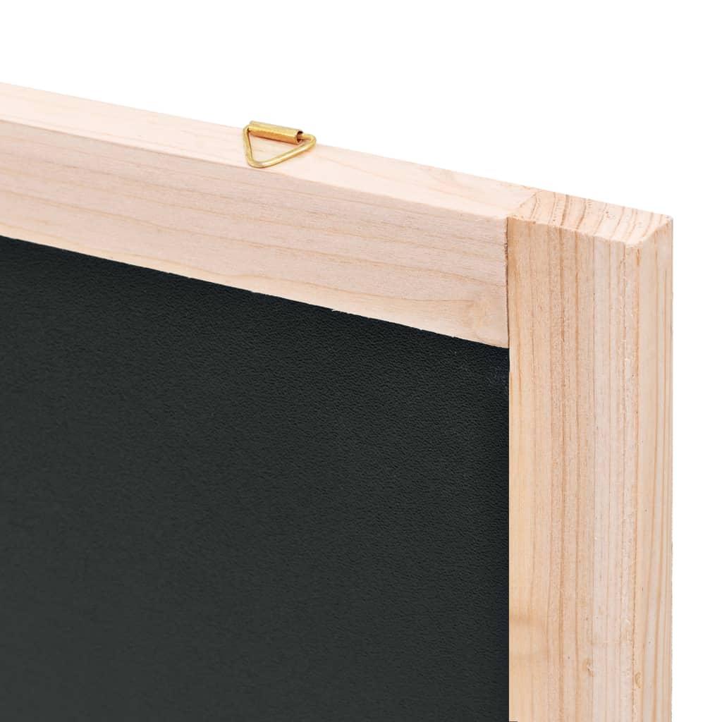 Krijtbord voor aan de wand 60x80 cm cederhout