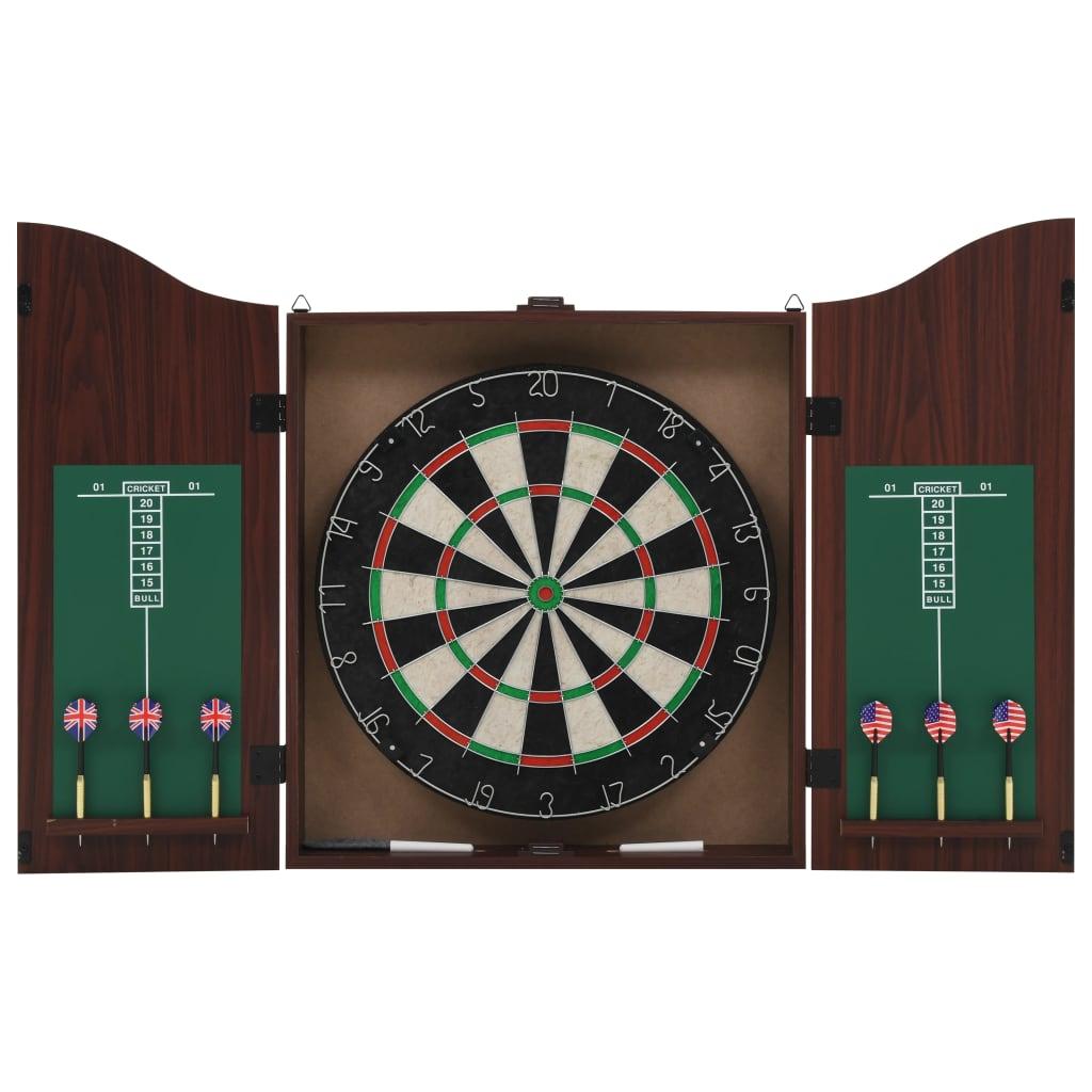 Dartbord professioneel met kast en 6 darts sisal