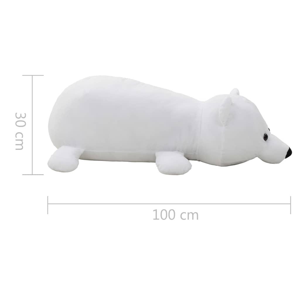 Knuffel-ijsbeer-pluche-wit miniatuur 5