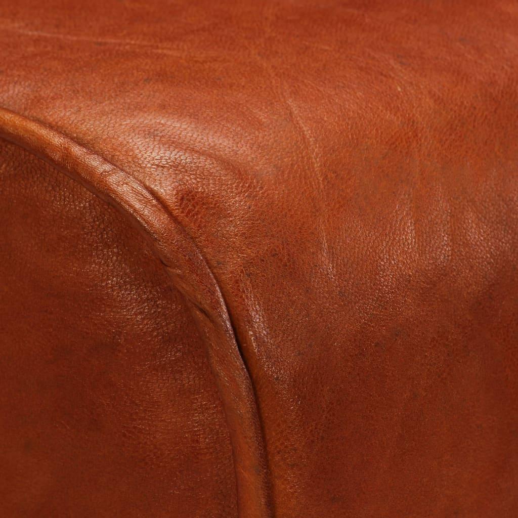 Barstoelen 2 st 48x31x76 cm massief mangohout echt leer