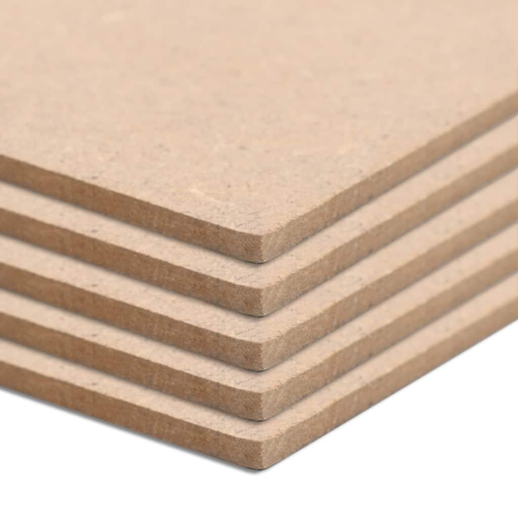 MDF platen rechthoekig 120x60 cm 2,5 mm 10 st