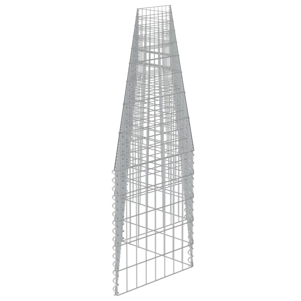 Schanskorf muur 630x30x50 cm gegalvaniseerd staal