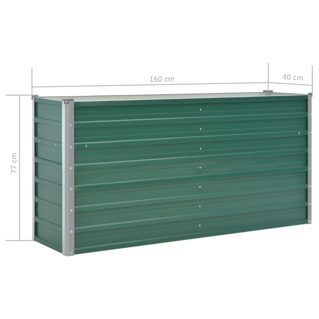 Plantenbak 160x40x77 cm gegalvaniseerd staal groen