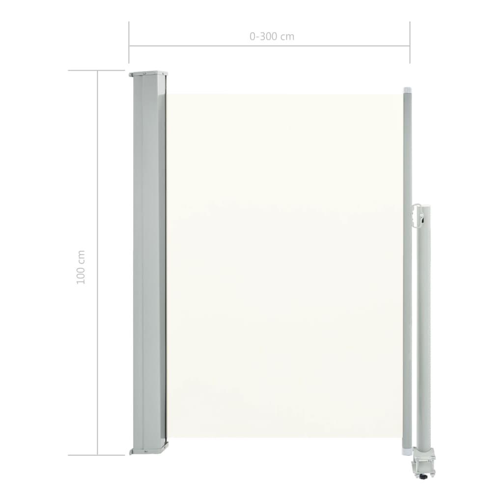 Zijluifel uittrekbaar 100x300 cm crme