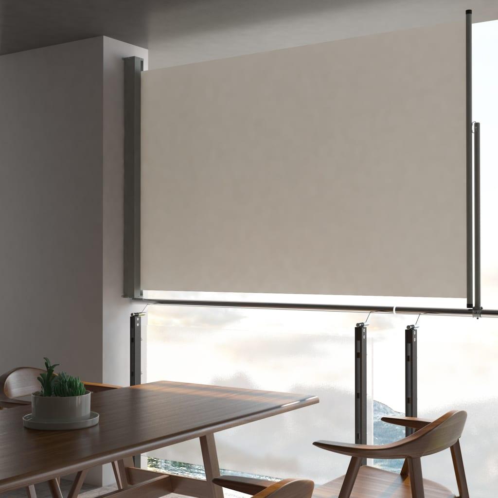 Tuinscherm uittrekbaar 160x300 cm crme