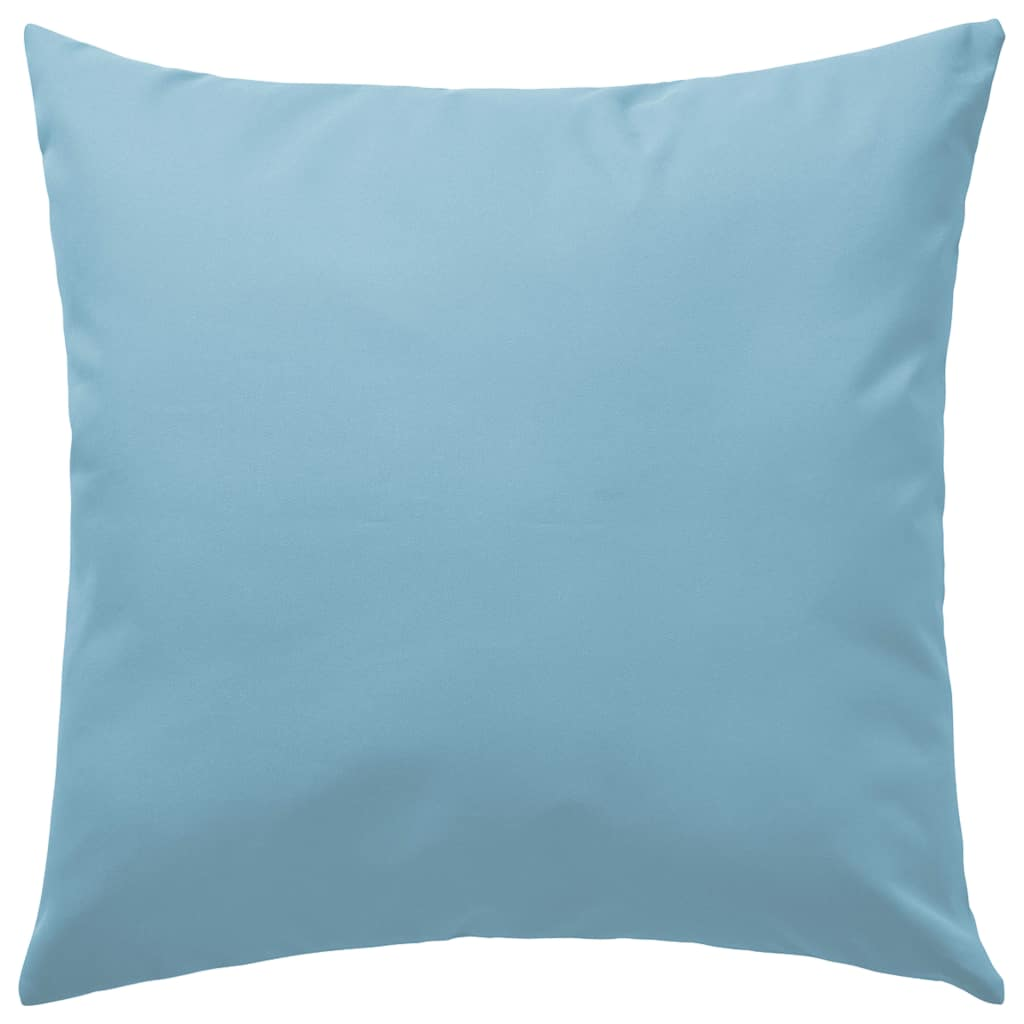 Buitenkussens 60x60 cm lichtblauw 2 st