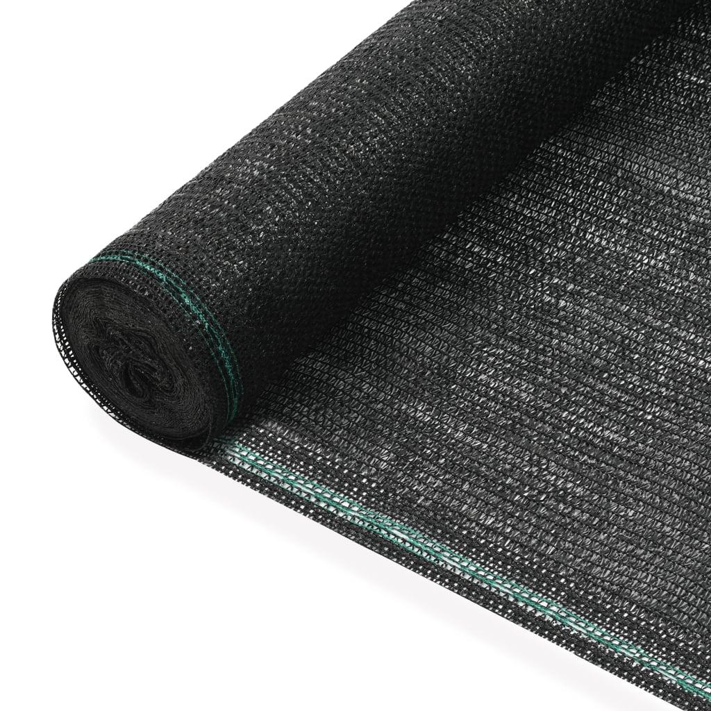 Tennisnet 1,2x50 m HDPE zwart