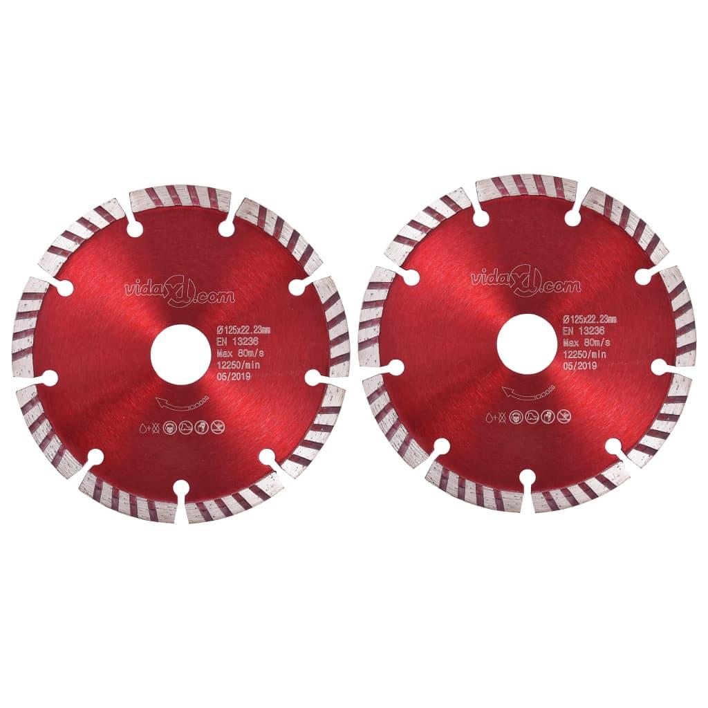 Diamantzaagbladen 2 st met turbo 125 mm staal