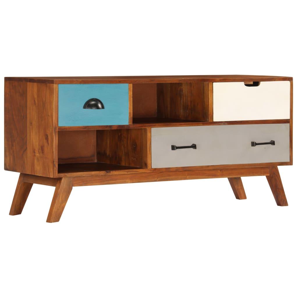 Tv-meubel met 3 lades 110x35x50 cm massief acaciahout