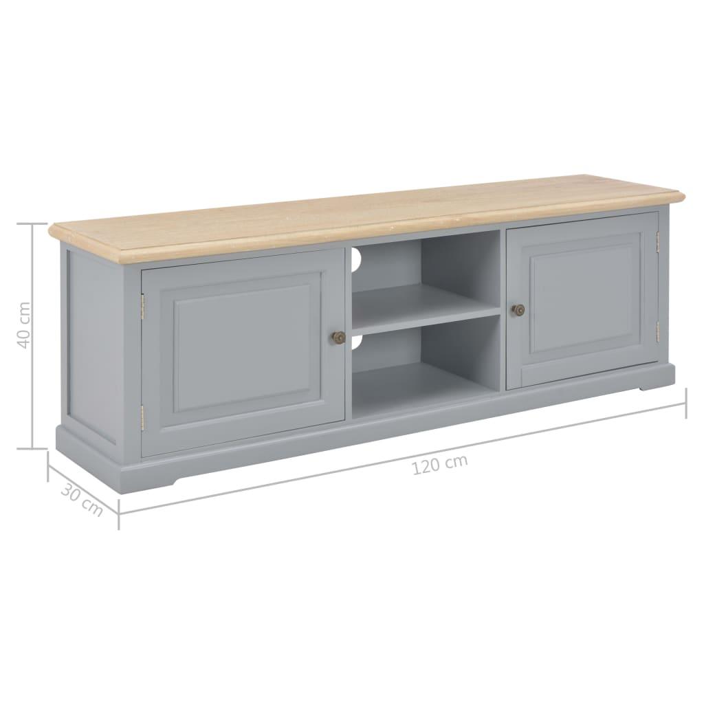 Tv-meubel 120x30x40 cm hout grijs