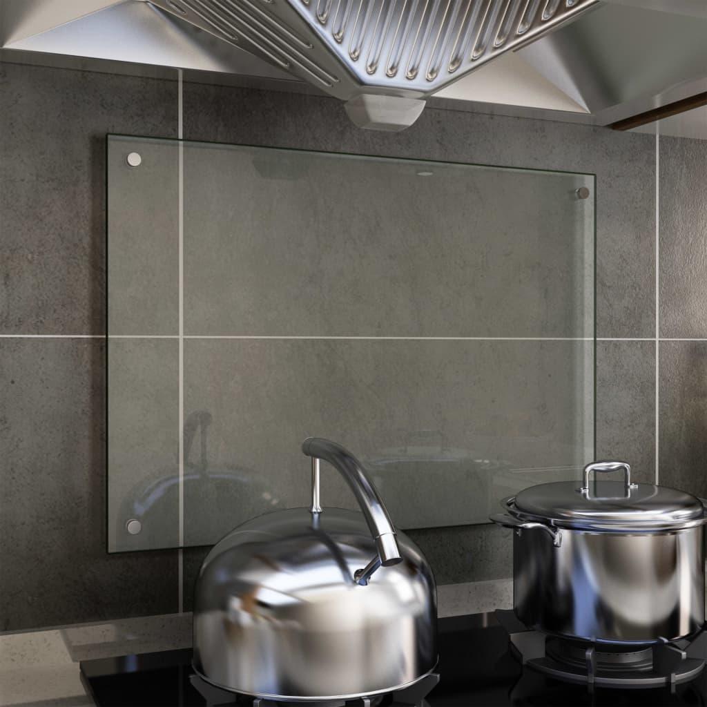Spatscherm keuken 70x50 cm gehard glas transparant
