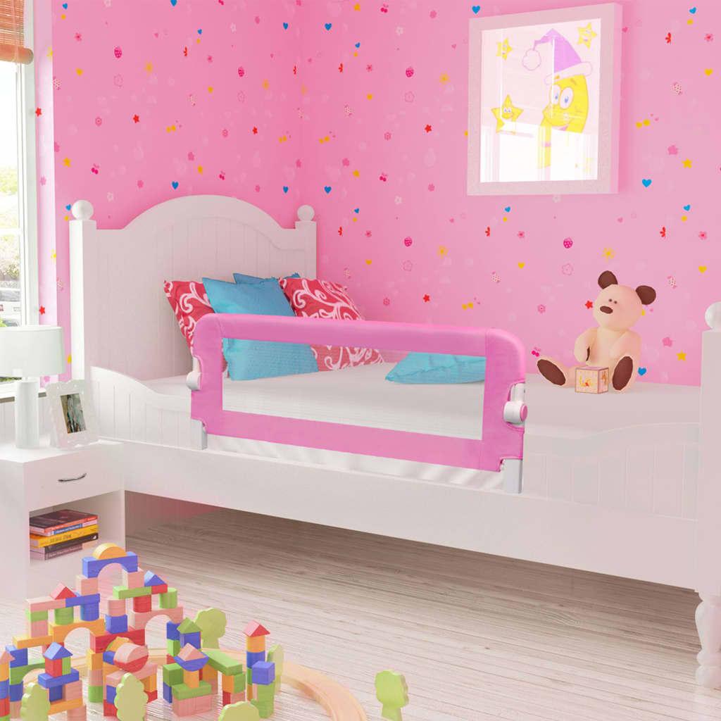 Bedhekje peuter 120x42 cm polyester roze