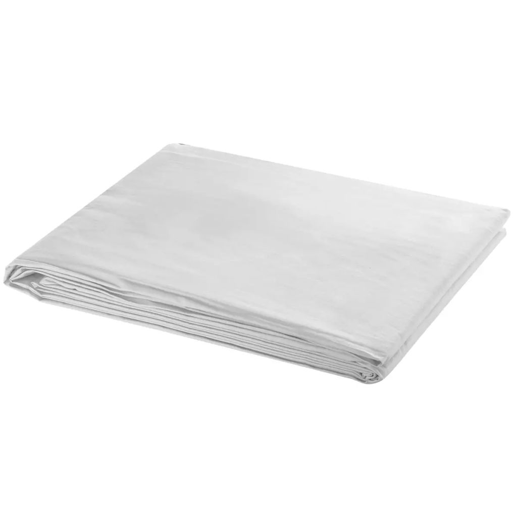 Achtergrond 600x300 cm katoen wit