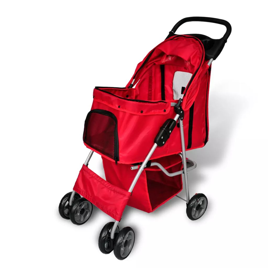 Wandelwagen voor hond rood