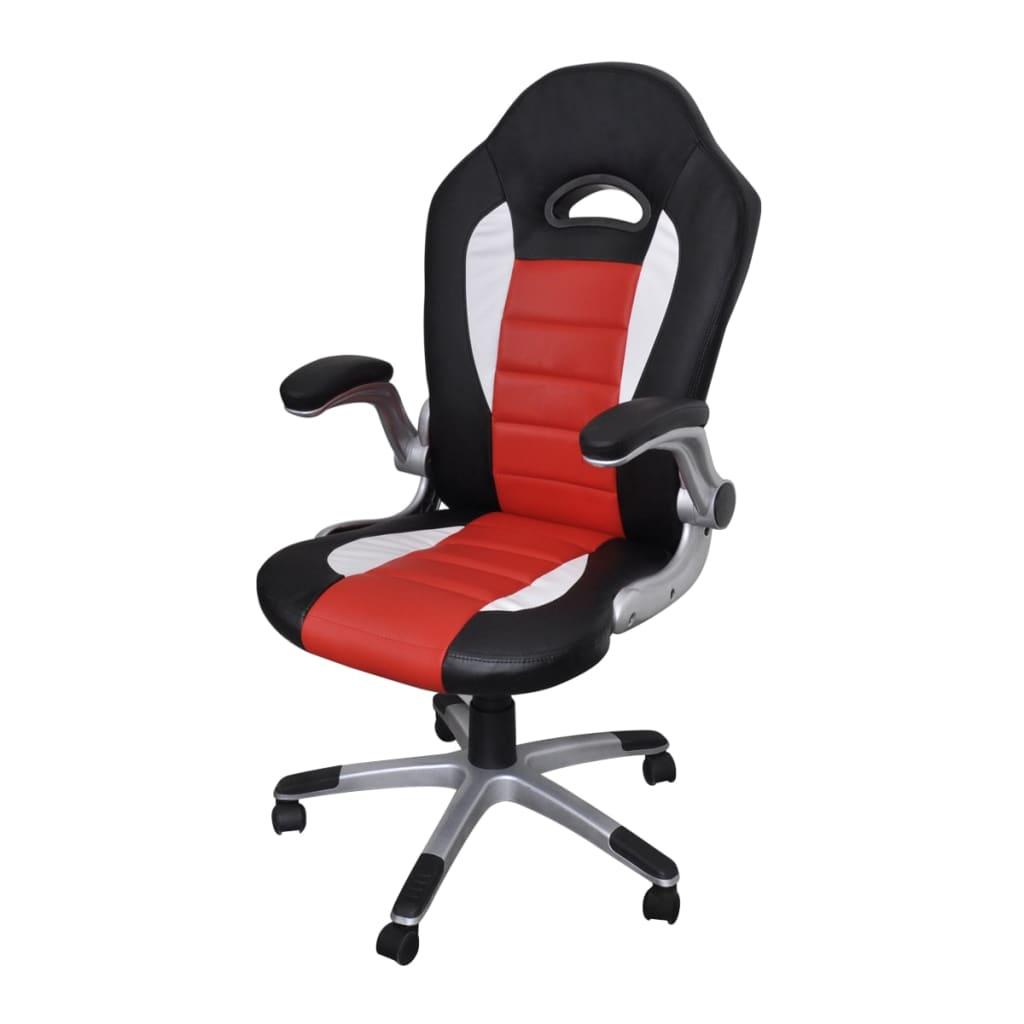 Kunstlederen bureaustoel modern rood