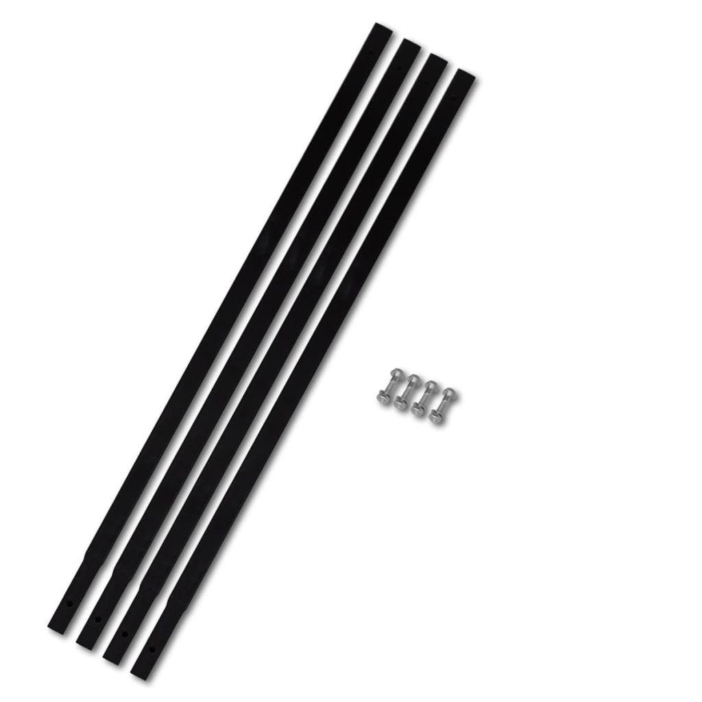 Verlengstuk voor grondboor 4 x 1 m (staal)