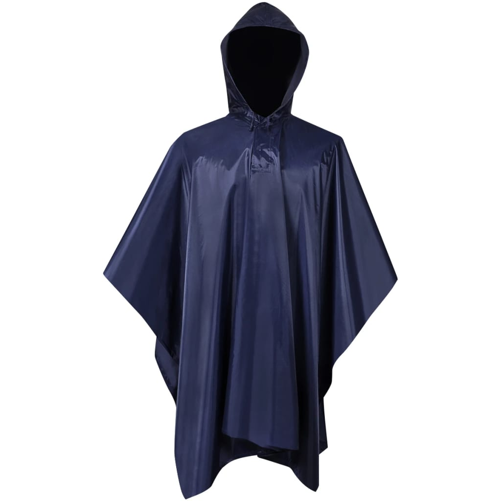 Regenponcho leger waterbestendig voor kamperen/wandelen marineblauw