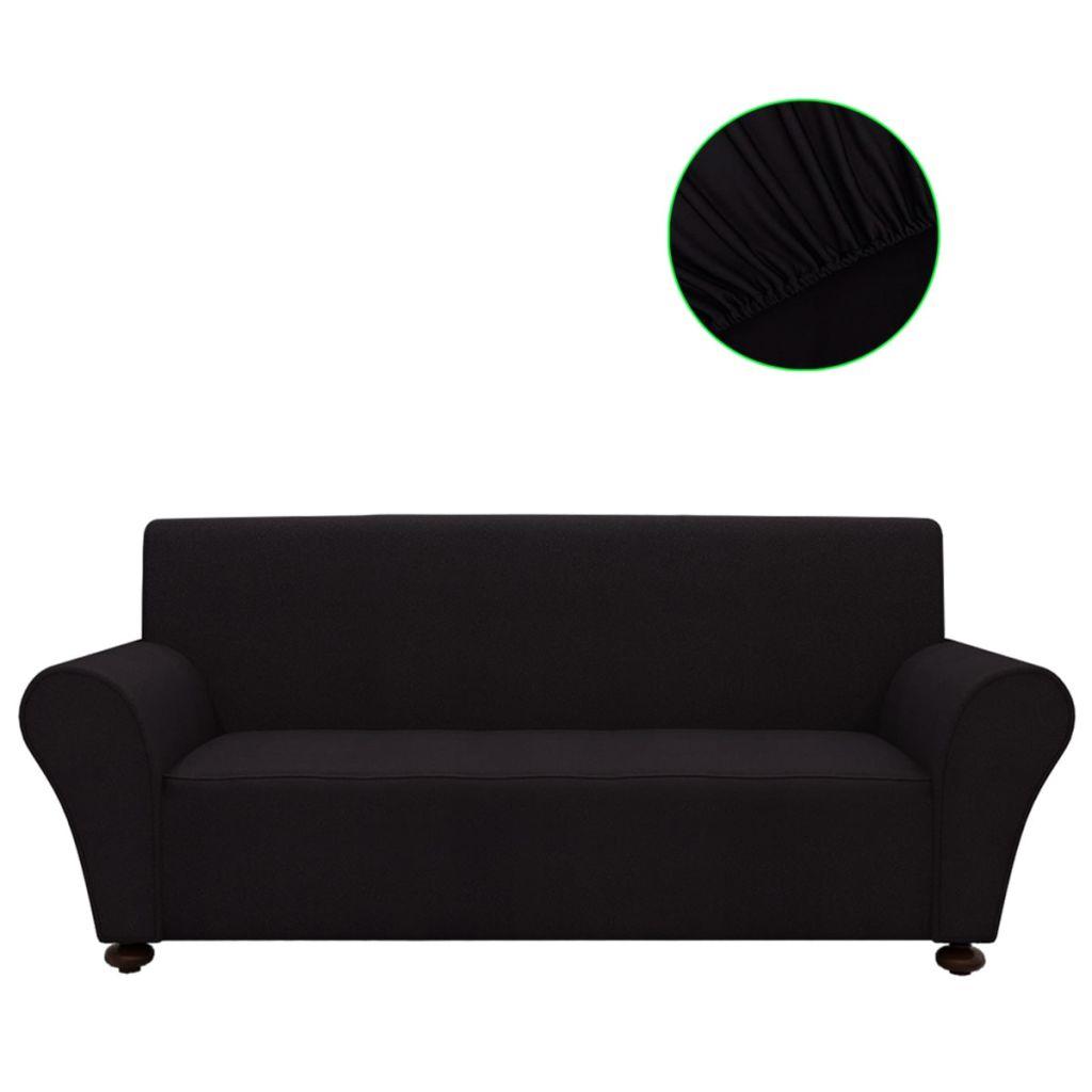 Bankhoes stretch polyester jersey zwart