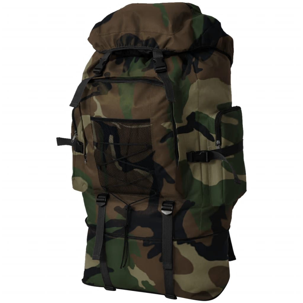 Rugzak legerstijl XXL 100 L camouflage