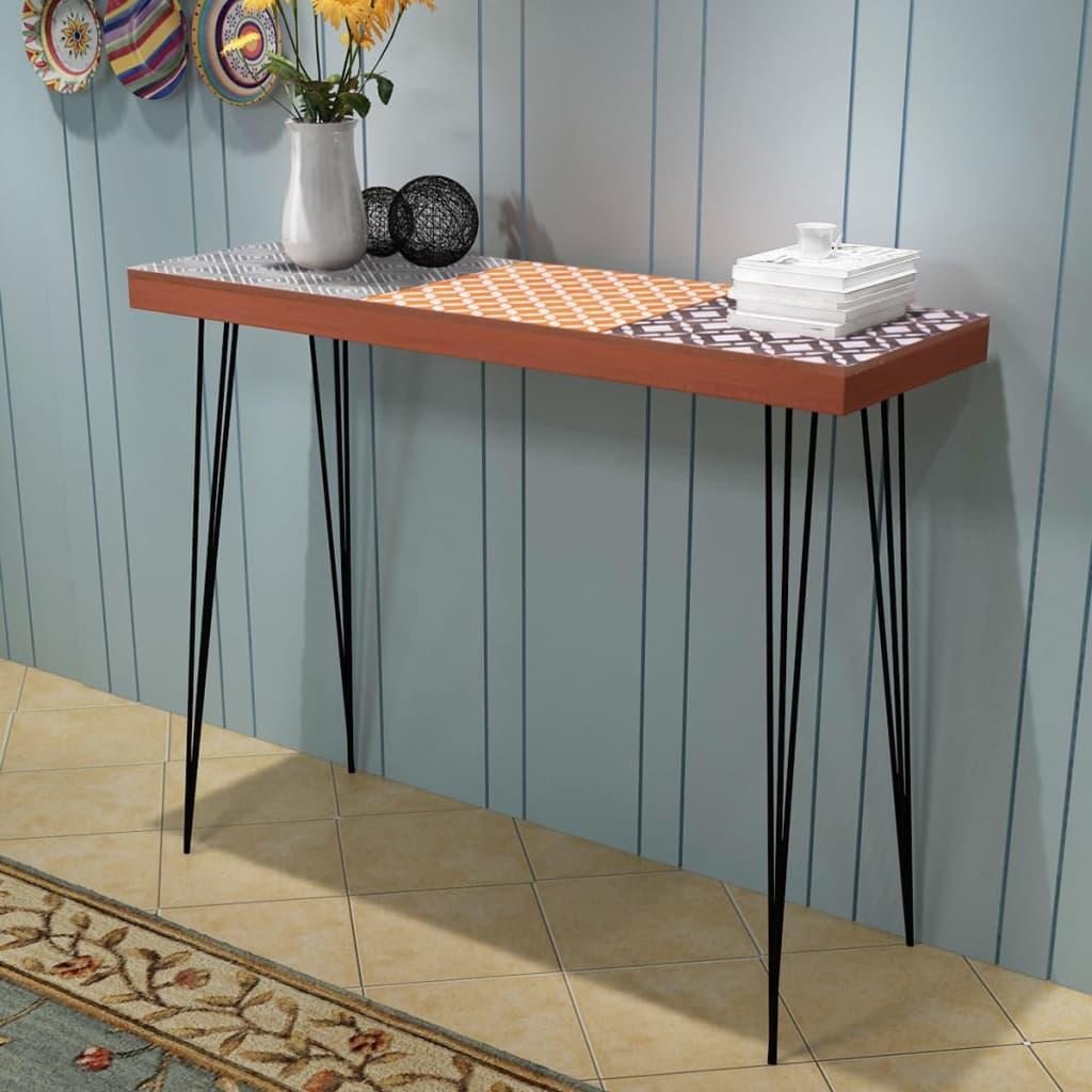 Wandtafel 90x30x71,5 cm bruin