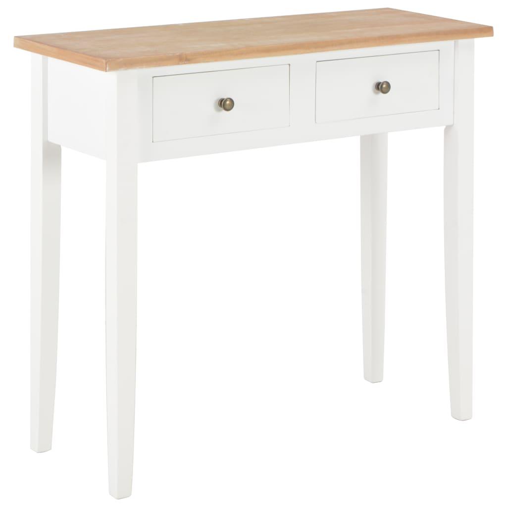 Bijzettafel 79x30x74 cm hout wit