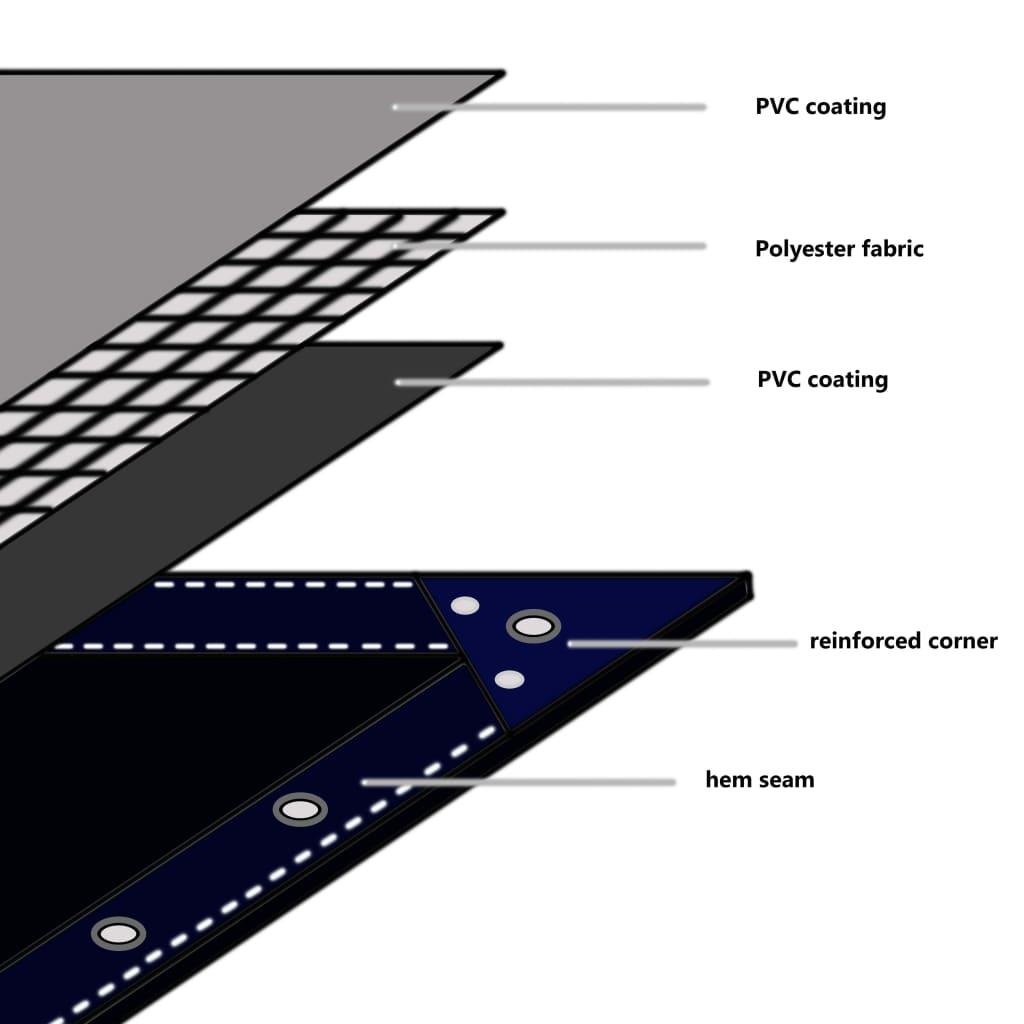 Dekzeil 650 g/m 1,5x10 m grijs