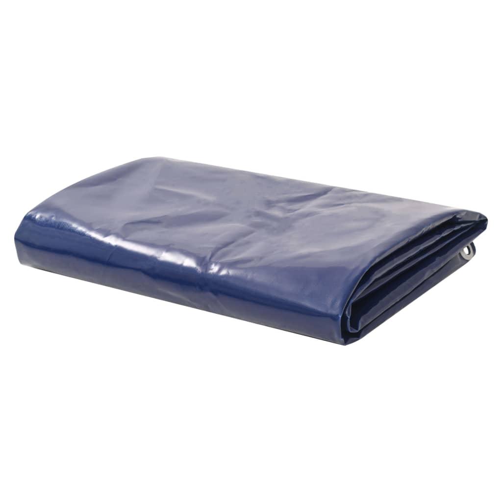 Dekzeil 650 g/m 1,5x6 m blauw