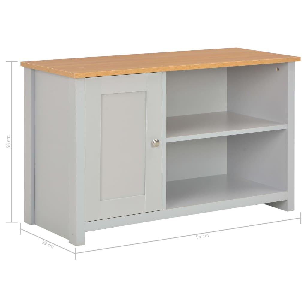Tv-meubel 95x39x58 cm grijs