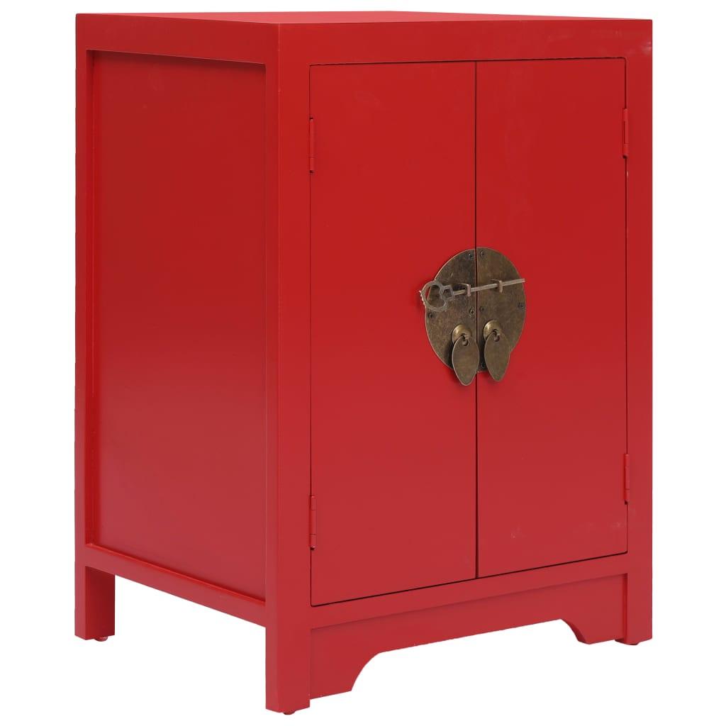 Nachtkastje 38x28x52 cm paulowniahout rood