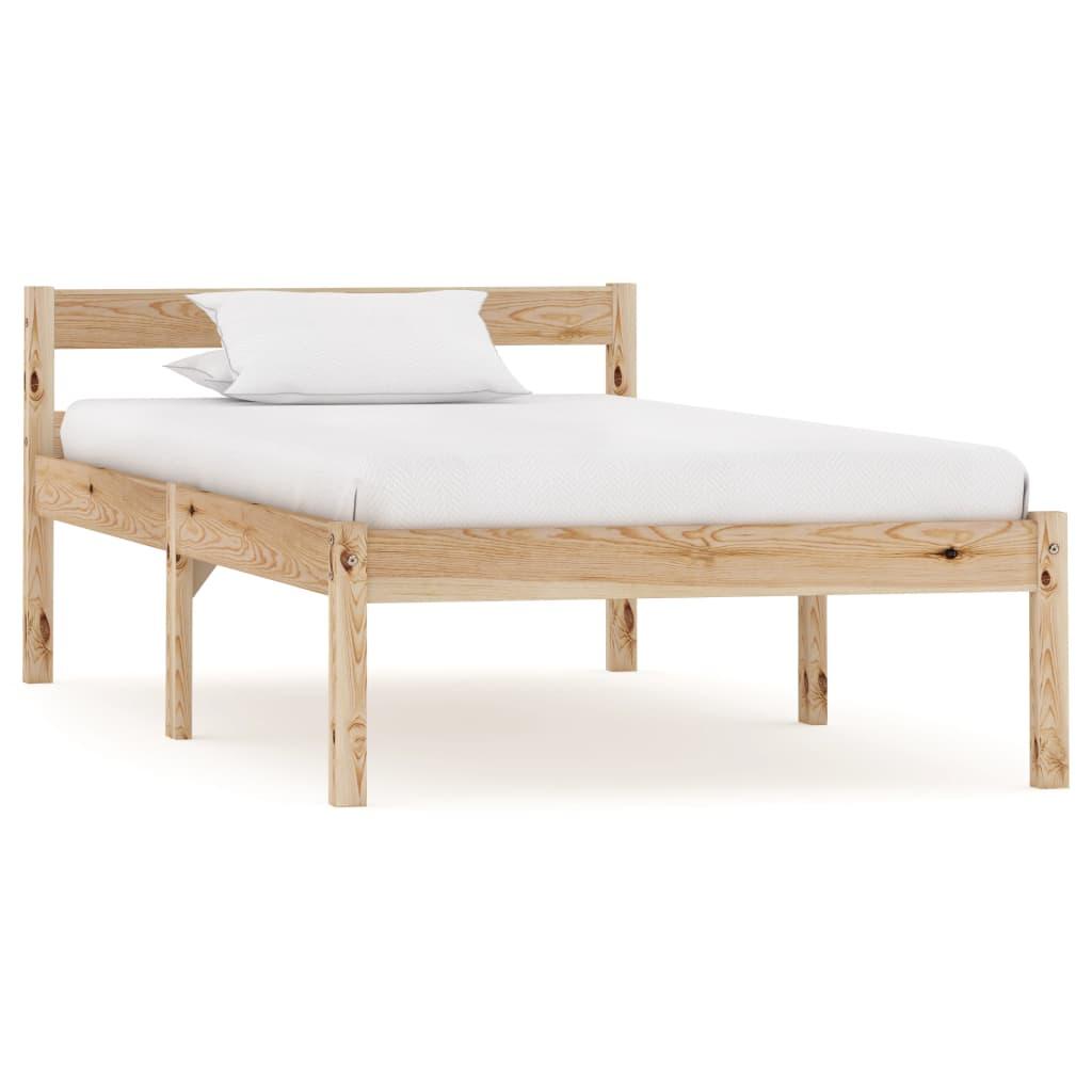 Bedframe massief grenenhout 90x200 cm