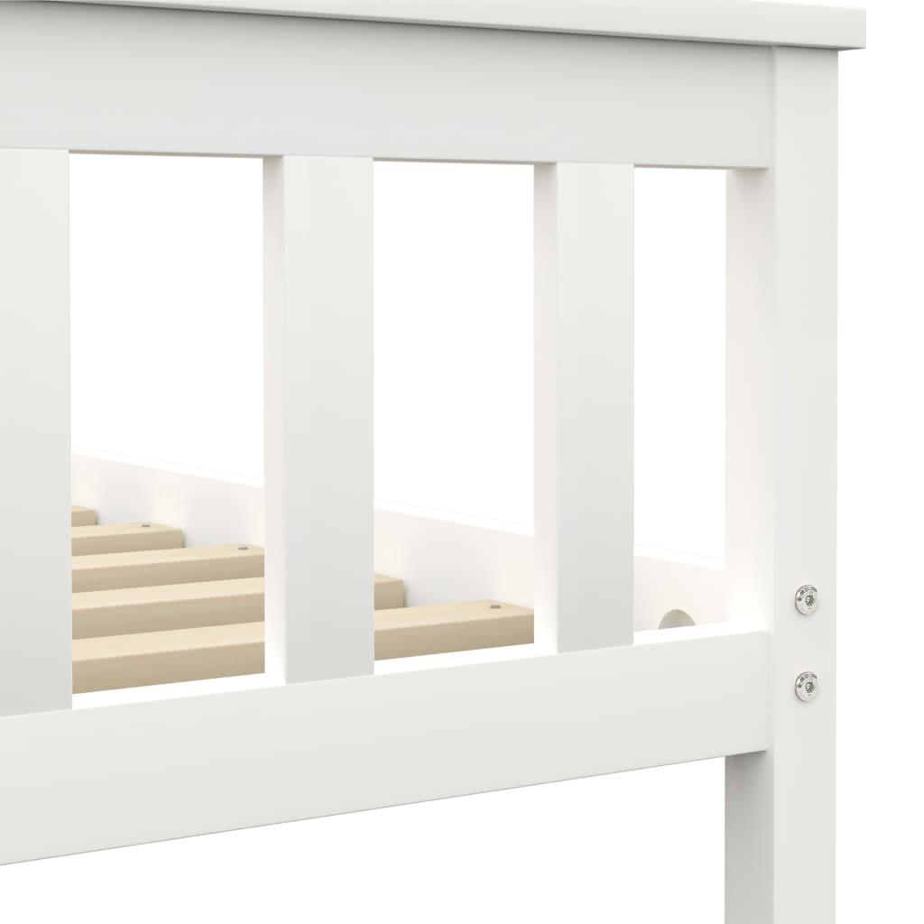 Bedframe massief grenenhout wit 100x200 cm