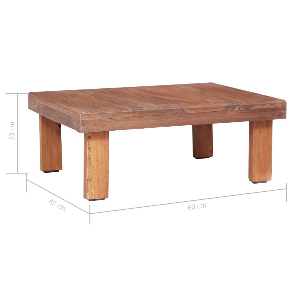 Salontafel 60x45x23 cm massief gerecycled hout