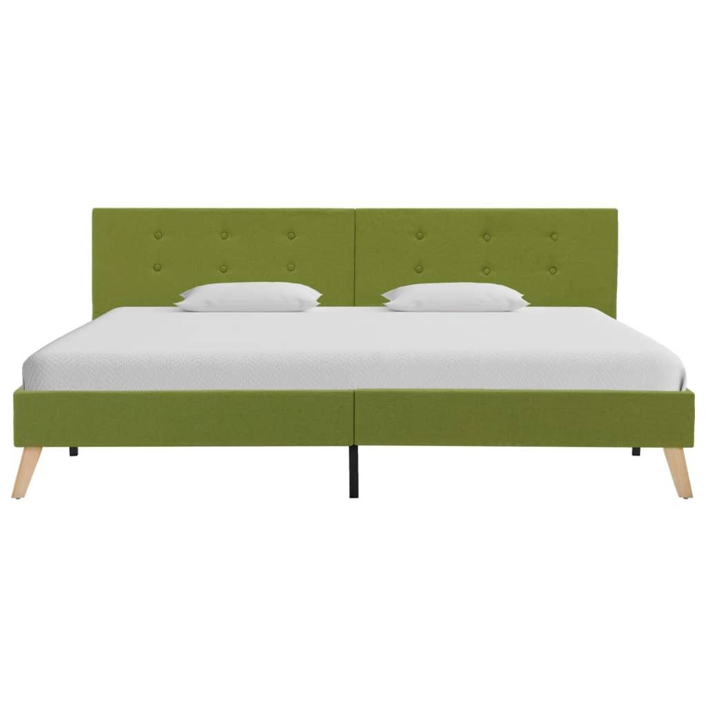 Bedframe stof groen 180x200 cm