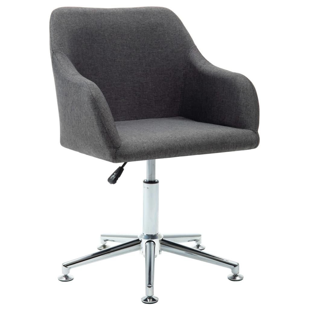 Kantoorstoel draaibaar stof donkergrijs