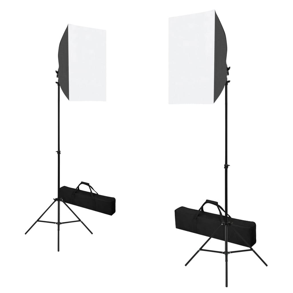 Professionele studiolampen 2 st 40x60 cm staal zwart
