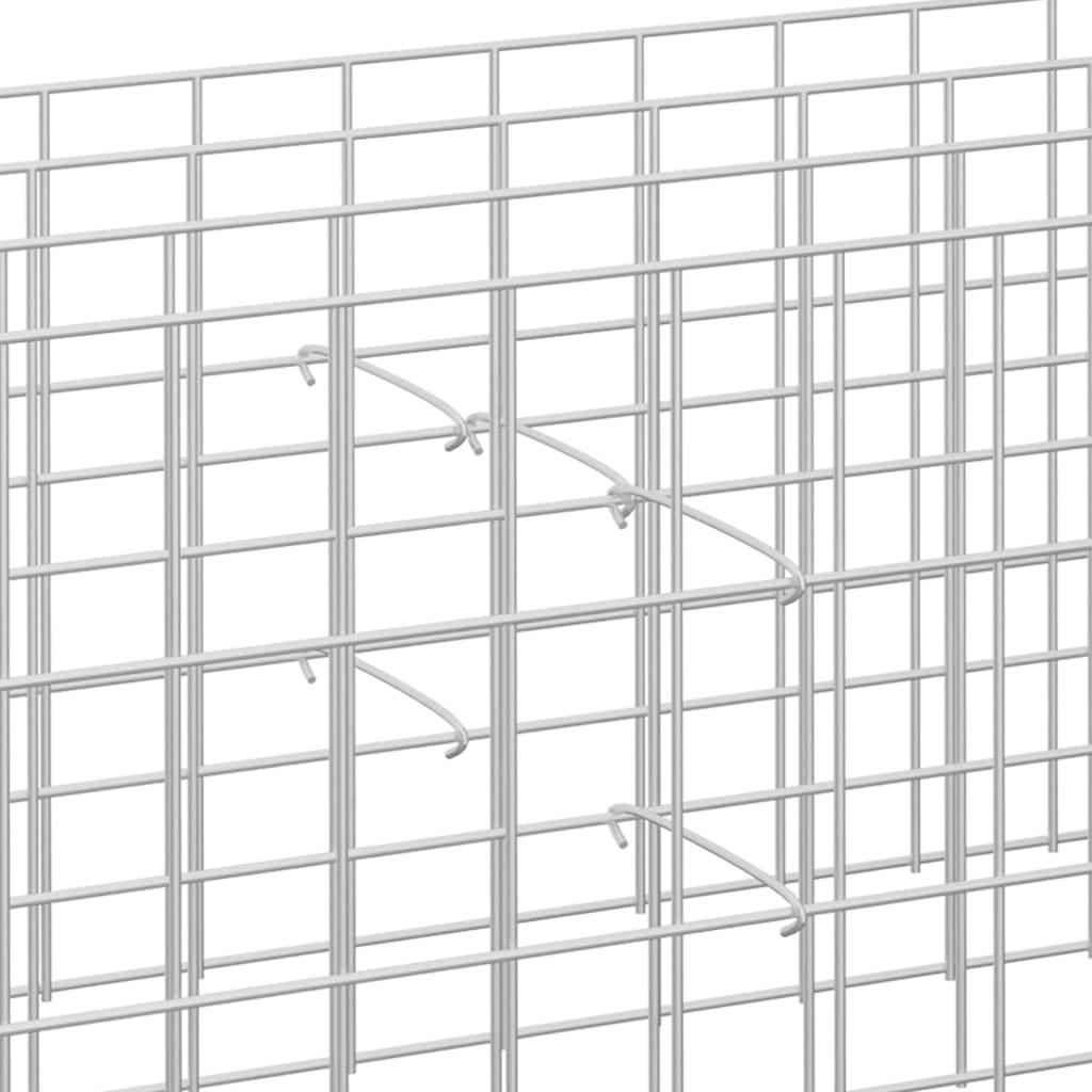Gabionhaken 100 st 30 cm gegalvaniseerd staal