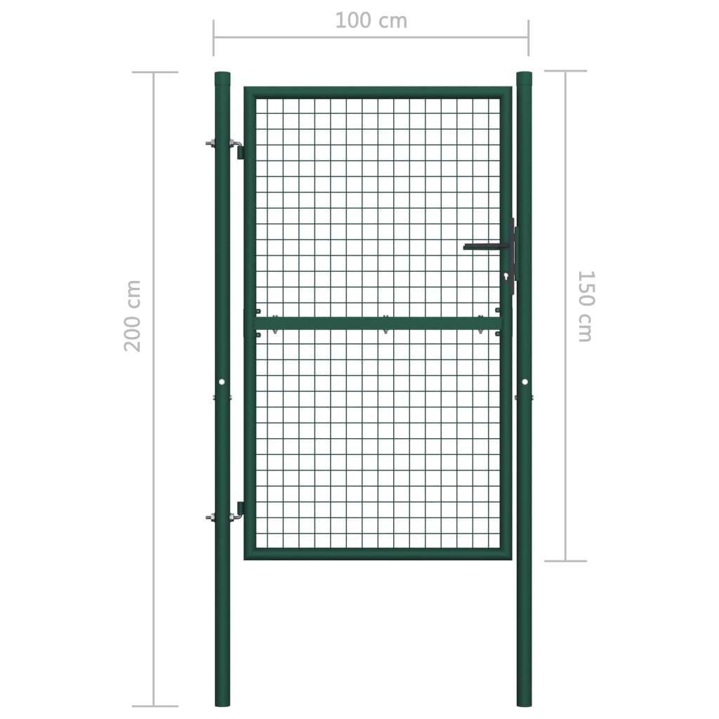 Poort 100x150 cm staal groen