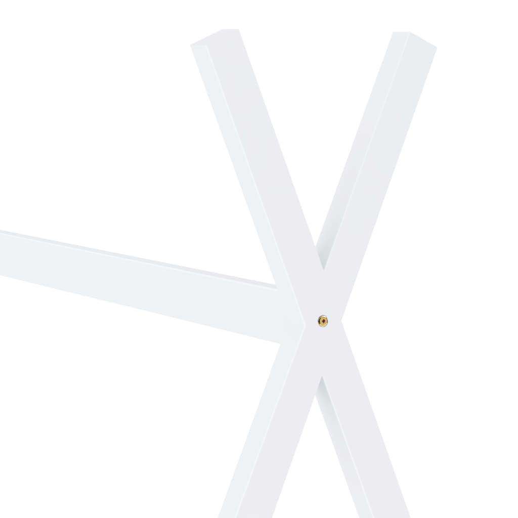Kinderbedframe massief grenenhout wit 80x160 cm