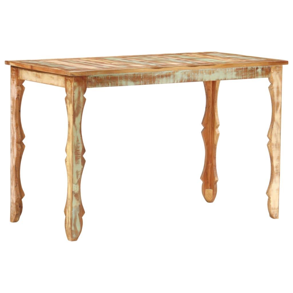 Eettafel 120x60x76 cm massief gerecycled hout