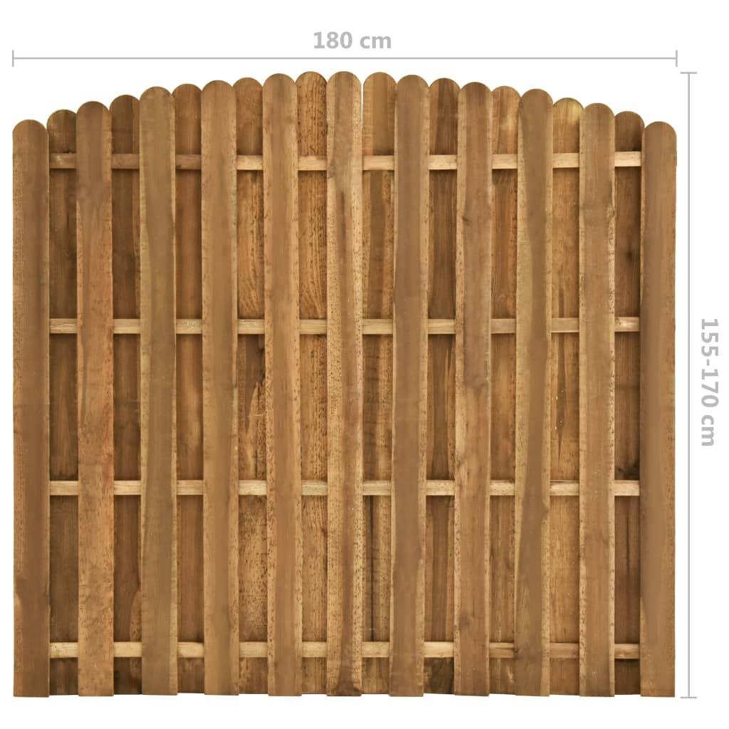 Schuttingpaneel verspringend 180x(155-170) cm grenenhout