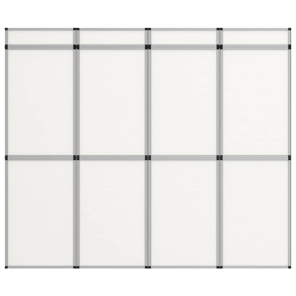 Promotiewand met 12 panelen inklapbaar 242x200 cm wit