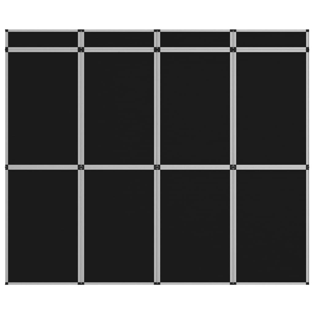 Promotiewand met 12 panelen inklapbaar 242x200 cm zwart